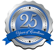 25 years of Excellence Seal